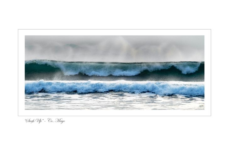 Surfs Up - Co. Mayo by Jessica Priddy on ArtClick.ie