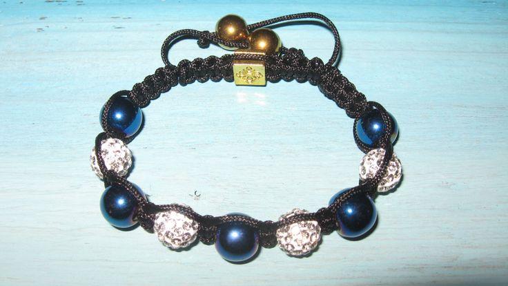 Blue hematite and diamante bracelet, jewellery, Christmas present,bridesmaid gift ,thankyou,steampunk,bridal,bride,evening wear,jewellery by LovenLightFabrics on Etsy