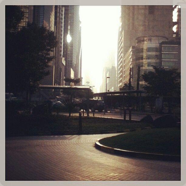 Tall buildings along Ayala Ave in Makati...