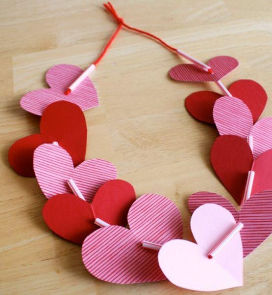 Preschool Crafts For Kids*: Valentineu0027s Day Heart Necklace Preschool  Valentine