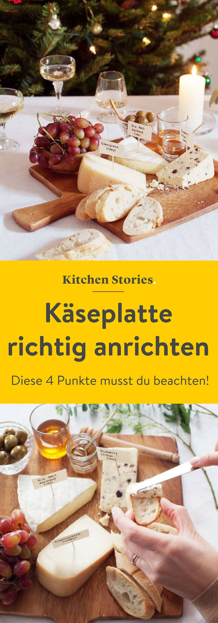 Today we will show you how to make a cheese plate the right way: varied, s …   – Weihnachten – Rezepte & mehr