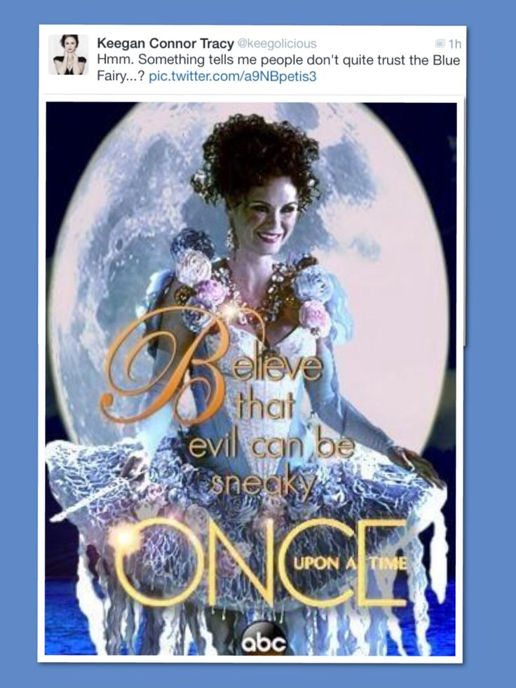 Keegan Connor Tracy on twitter...Fan made Blue Fairy Poster