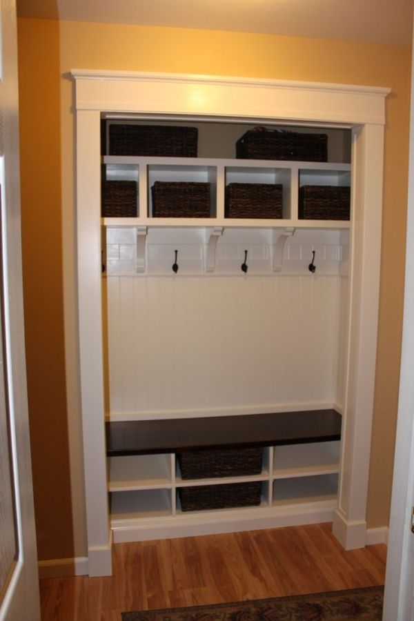It is done...I converted the entry closet off the garage into a mudroom. by leona