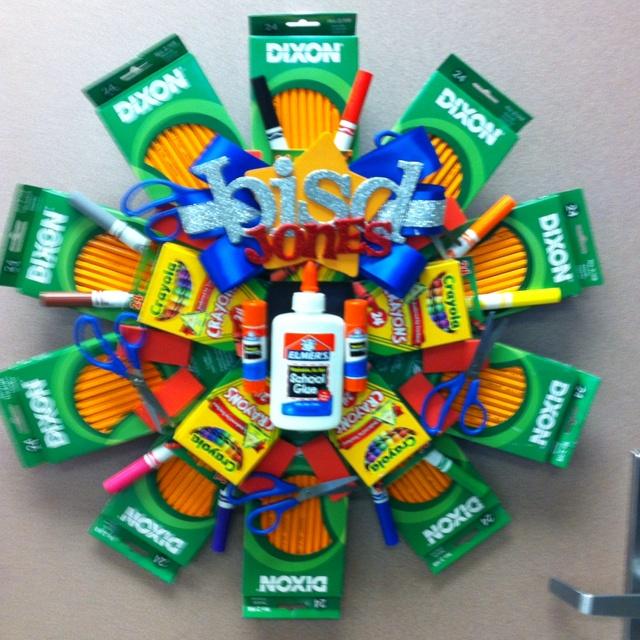 School Supplies Wreath