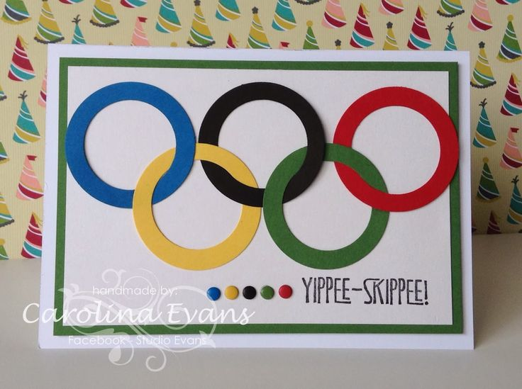 Punch Art, Yippee Skippee, Olympic card, Stampin' Up! a creation by Carolina Evans
