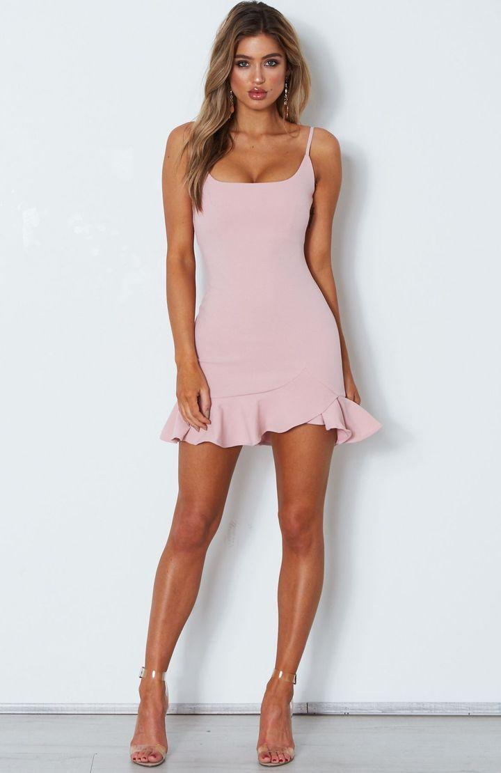 The Randi ruffle mini dress is so hot right now! From its super-cute ruffle heml... 13