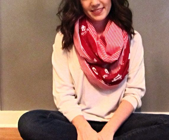 I love this sooooo much, I may just have to get it. Indiana University Infinity Scarf on Etsy, $24.00