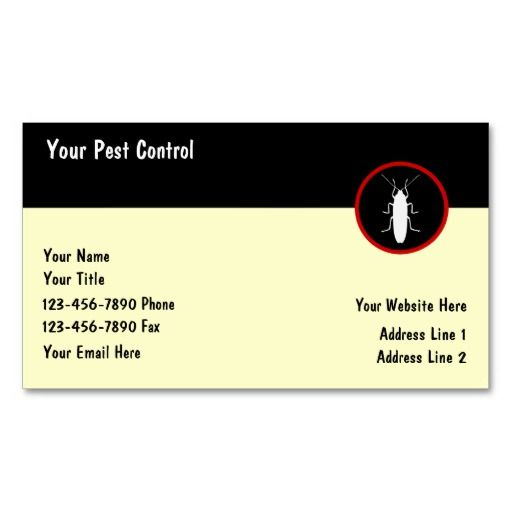 147 best pest control business cards images on pinterest pest control business cards colourmoves