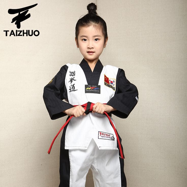 (47.78$)  Watch now - http://airl6.worlditems.win/all/product.php?id=32794852916 - 2017 children Kids Taekwondo dobok WTF Approved Taekwondo fitness training Dobok Uniforms Long Sleeve kung fu Clothes110-150cm
