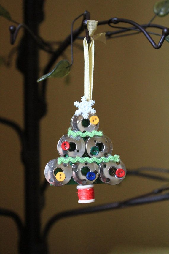 Handmade Sewing Bobbin Christmas Tree by SamanthasTreasure on Etsy, $7.00