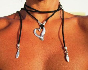 Envuelva el collar collar de concha joyas de cowry por kekugi
