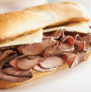 Ten-Minute Beef au Jus is the quickest, easiest sandwich recipe you'll run into in a long time. While the au Jus simmers, the buns broil. Just assemble and dip. Easy, peasy.