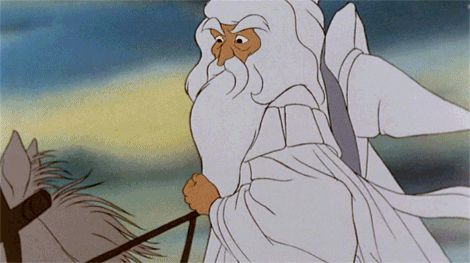 Gandalf goes all Quentin Taratino