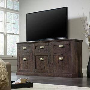 Sauder Woodworking New Grange Cobblestone Entertainment Credenza 419263 at The Home Depot - Mobile