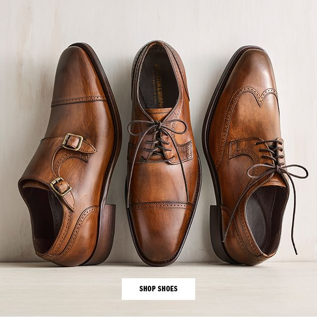 Johnston and Murphy - Handcrafted in Italy Cormac Double-Buckle Monk Strap, Cap Toe, Wingtip