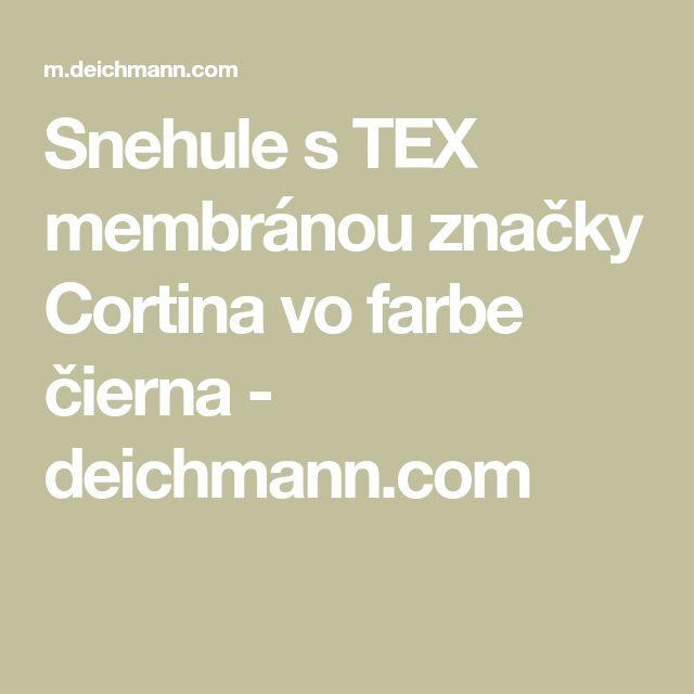 Snehule s TEX membránou značky Cortina vo farbe čierna - deichmann.com