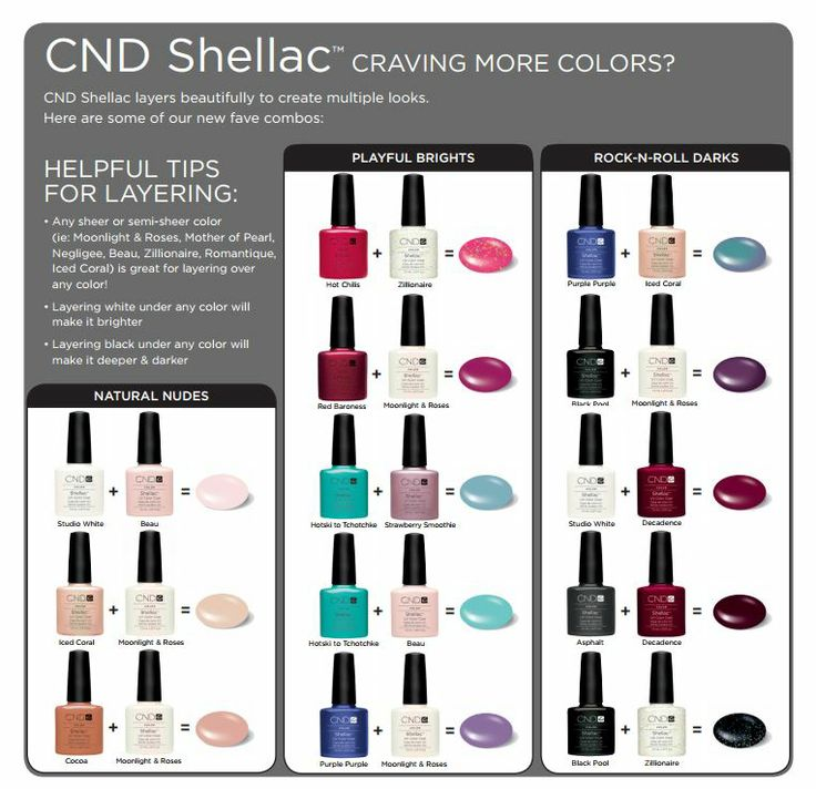 CND Shellac Layering http://www.cnd.com/pro-products/cnd-shellac/cnd-shellac-colors/meet-colors