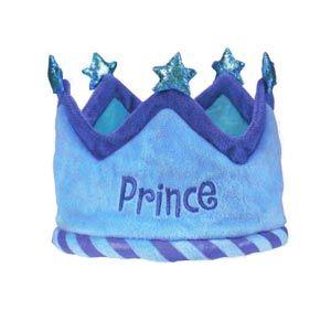 1st Birthday Boy Fabric Crown Prince