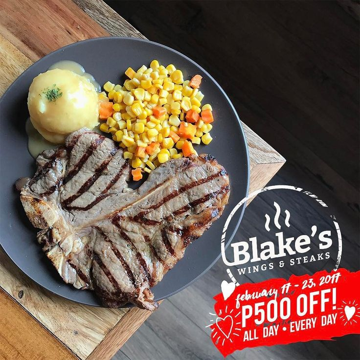 Get P500 off all day at participating restaurants through our #EATSale until Feb. 23! Blake's Wings and Steaks - Katipunan  Use code CITIBOOKY to get 1500 discount credits!  CLICK THE LINK IN BIO to see all participating restaurants! # #bookymanila  View all participating branches on our app!  Tag your friends who love BIG discounts like this
