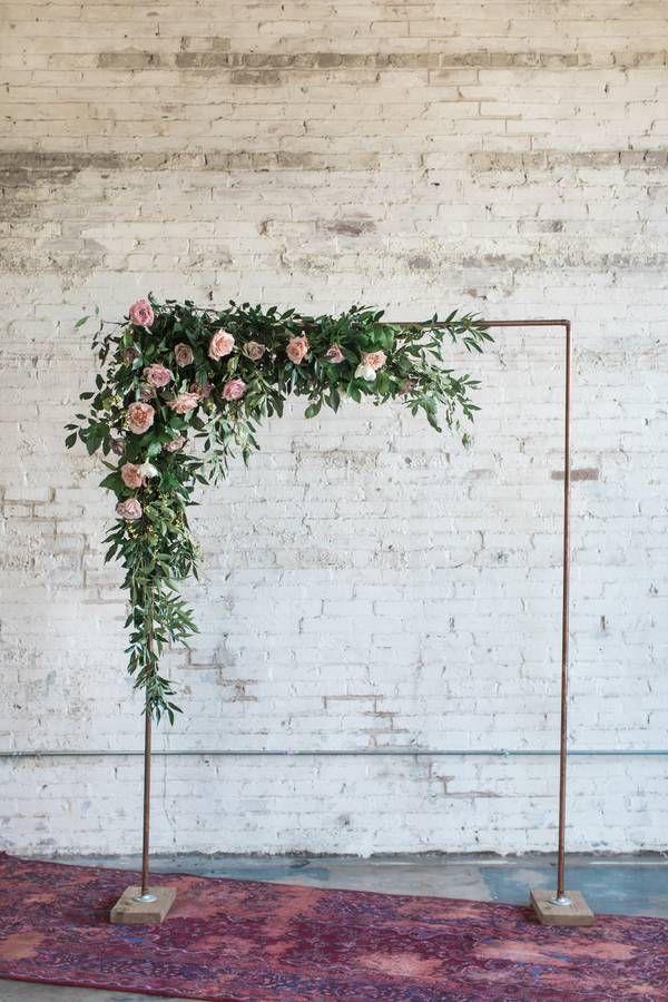 Modern Industrial Meets Rose Gold Romance Wedding Inspiration