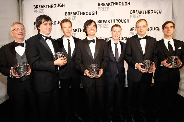 From left: Simon Donaldson (Stony Brook University and Imperial College London), Maxim Kontsevich (Institut des Hautes Études Scientifiques), Benedict Cumberbatch, Terence Tao (University of California, Los Angeles), Mark Zuckerberg, Richard Taylor (Institute for Advanced Study), and Jacob Lurie (Harvard University) #ZooSeo