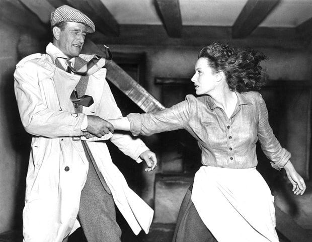 John Wayne and Maureen O'Hara in The Quiet Man