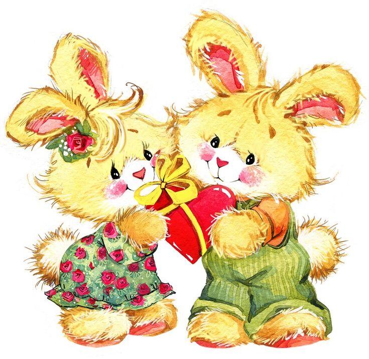 первую картинки про милого зайку и мишку этот замечательный