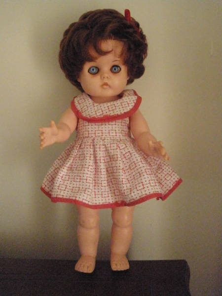 Crolly Doll ~I got on for xmas..she was beautiful, with a suede coat and hat and boots..long brown hair~