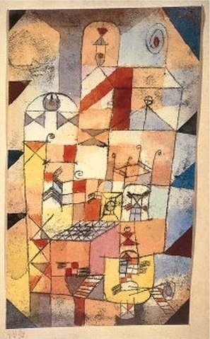 House Interior, 1919 // Paul Klee