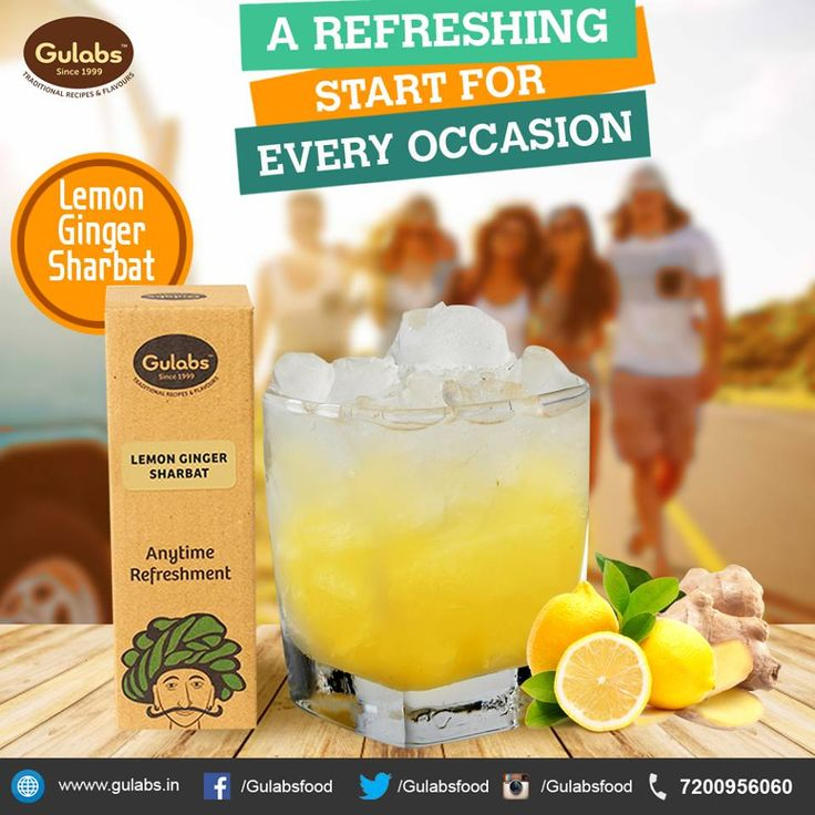Start your occassions with a bang.. #Gulabs #LemonGingerSharbat #drink #summerdrink