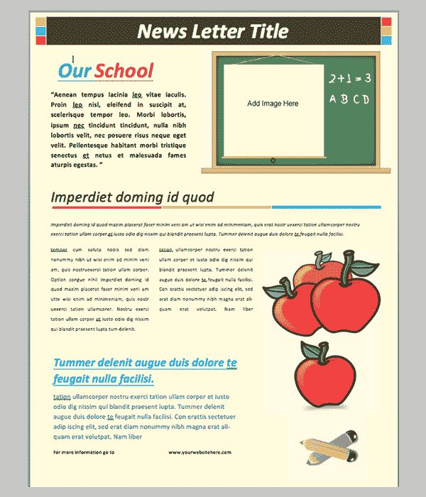The  Best Newsletter Templates Word Ideas On