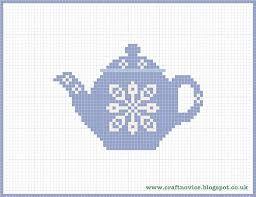 tea pot knit chart