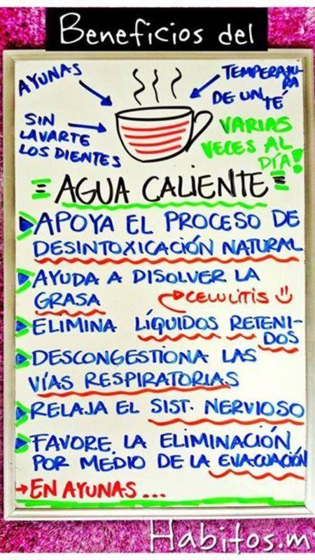 Beneficios del agua caliente en ayunas HABITOS.MX