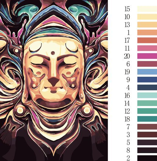 Unframed Buddha DIY Painting By Numbers Kits Paint On Canvas Acrylic Coloring Painitng By Numbers For Home Wall D/SZH-10 #Affiliate