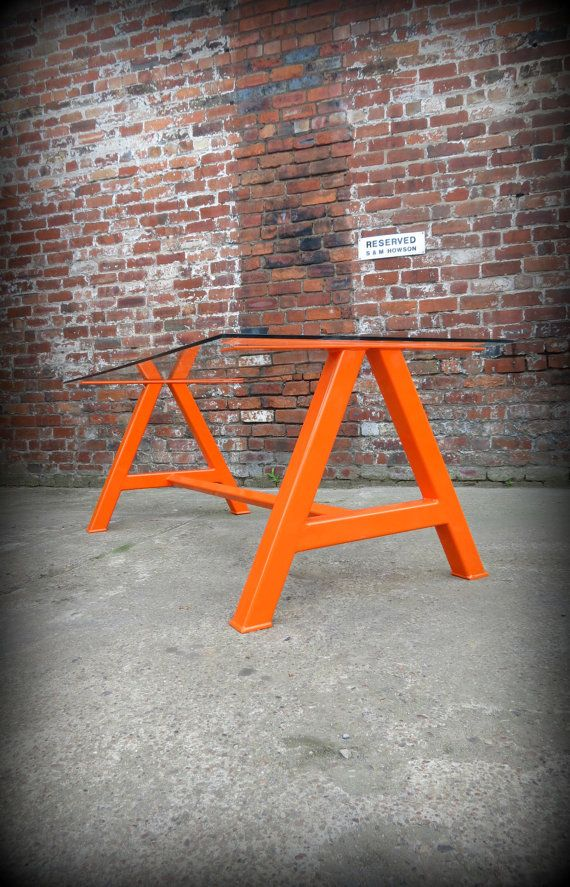 glass top office table chic. modern industrial chic glass top u0027au0027 frame dining table in orangehand made steel custom bespokedecor conference office tablereclaimed 350
