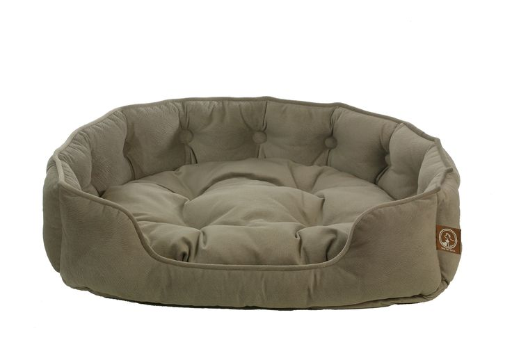 Faux Suede Snuggle Bed-Taupe Ideal for dogs or cats that like to curl up or snuggle to sleep.