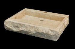 Marmurowa umywalka bataVia white - Panele i płytki kamienne, kamień elewacyjny, umywalki, wanny