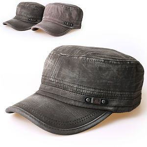 cadet hats men   NEW Mens Cadet Military HAT CAP Trucker HAT Visor Unisex Black Brown ...