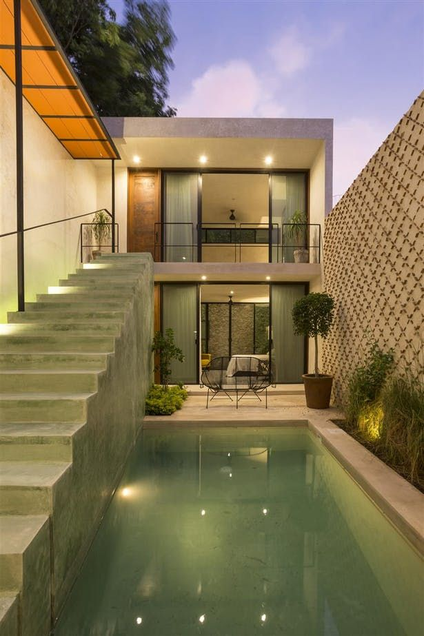The lemon Tree House | Pools & Fountains in 2019 | Narrow ... on old pool designs, traditional pool designs, corner pool designs, normal pool designs, pool edge designs, modern pool designs, small pool designs, skinny pool designs, narrow house design, wild pool designs, curved pool designs, high-end spa spillway designs, long pool designs, swimming pool designs, tropical pool designs, play pool designs, irregular pool designs, bad pool designs, angled pool designs,