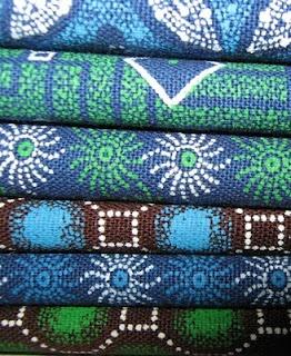 New colorways of Shweshwe fabric.