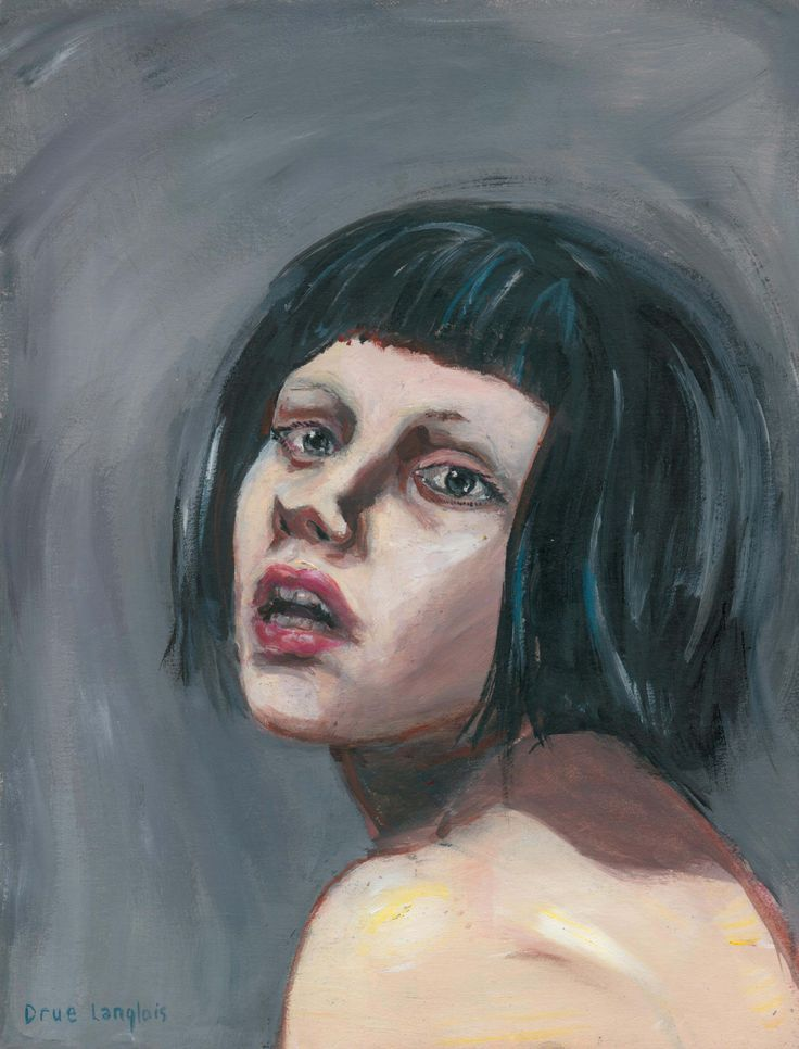 """Paige"" by Drue Langlois, oil paint on paper."
