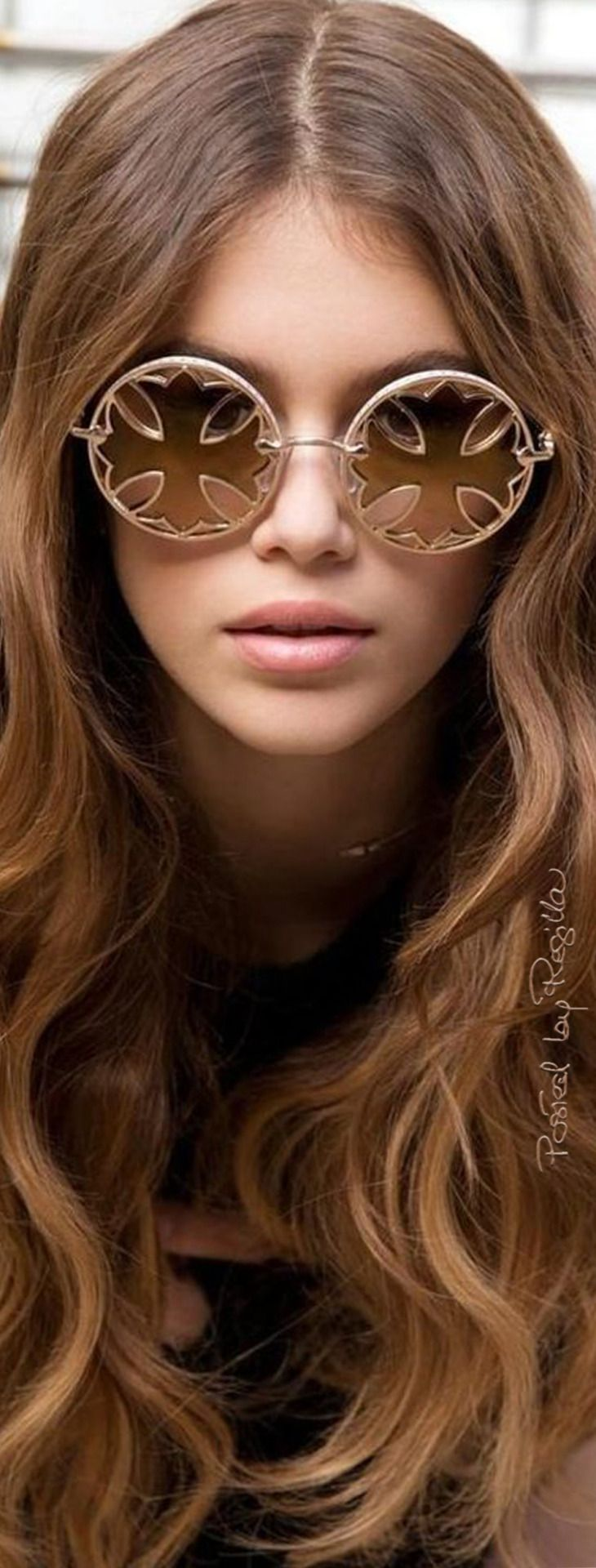 Regilla ⚜ Kaya Gerber (Cindy Crawford's daughter) wearing Chrome Hearts