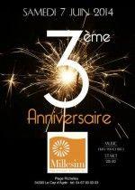 Plage Privée : Millesim Plage Cap d'Agde (34) Samedi 7 Juin '3 ème ANNIVERSAIRE'  Dj Fred Pellichero www.sortirsurlesplages.com