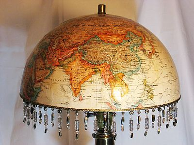Mom!!!! I found a use for the globe lol :D Old World Globe Shade...