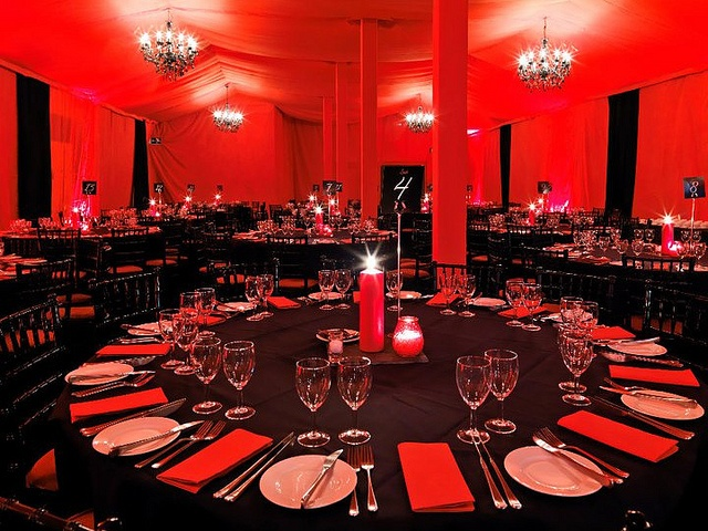 Black red table setting landscape_nHype SCARLET 2010 by oasistents, via Flickr