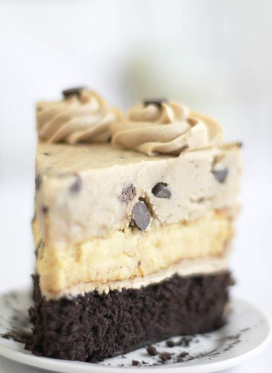 Chocolate Chip Cookie Dough Devils Food Cake Cheesecake. :0: Chips Cookies, Chocolates Chips, Chocolate Chips, Cookies Dough Cheesecake, Cookie Dough, Dough Devil, Chocolate Chip Cookie, Cookiedough, Devil Food Cakes
