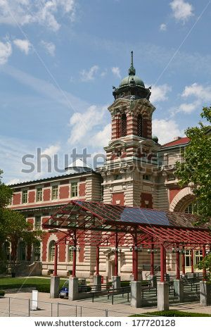 Entrance to Ellis Island Immigration Building in New York City