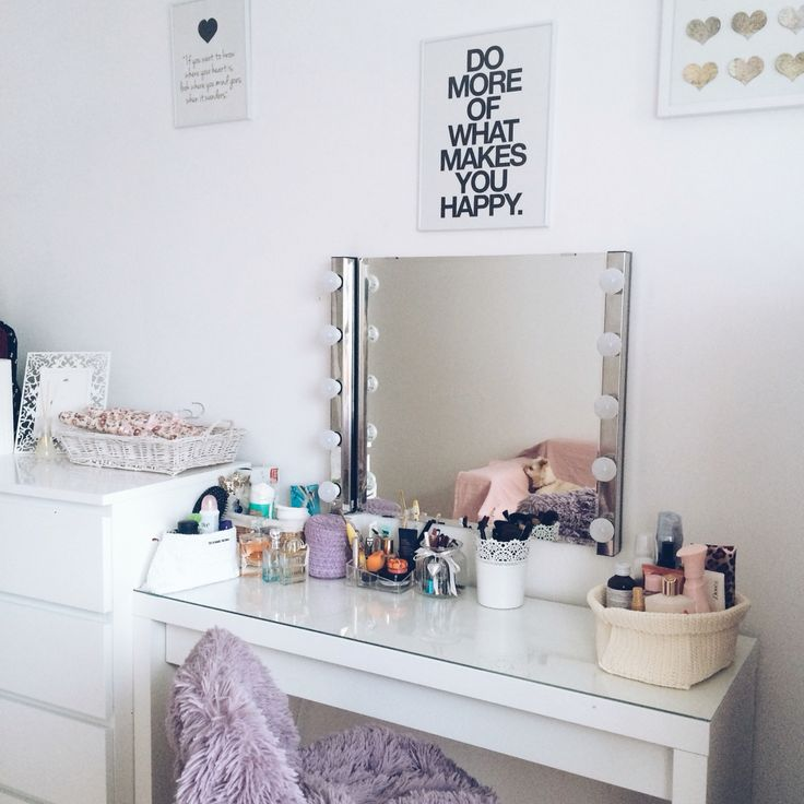 Makeup vanity Malm Ikea