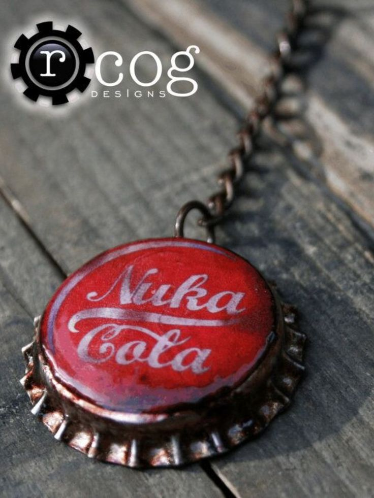 Nuka Cola bottle cap necklace, fallout pendant.