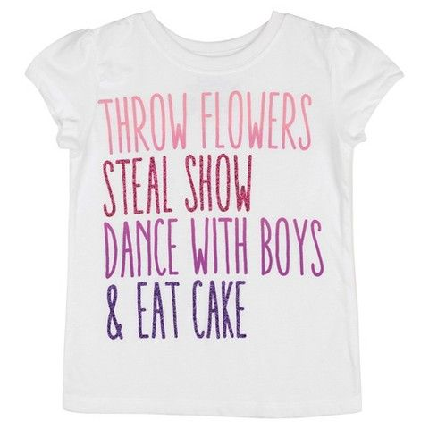 Toddler Girls' Flower Girls' T-Shirt